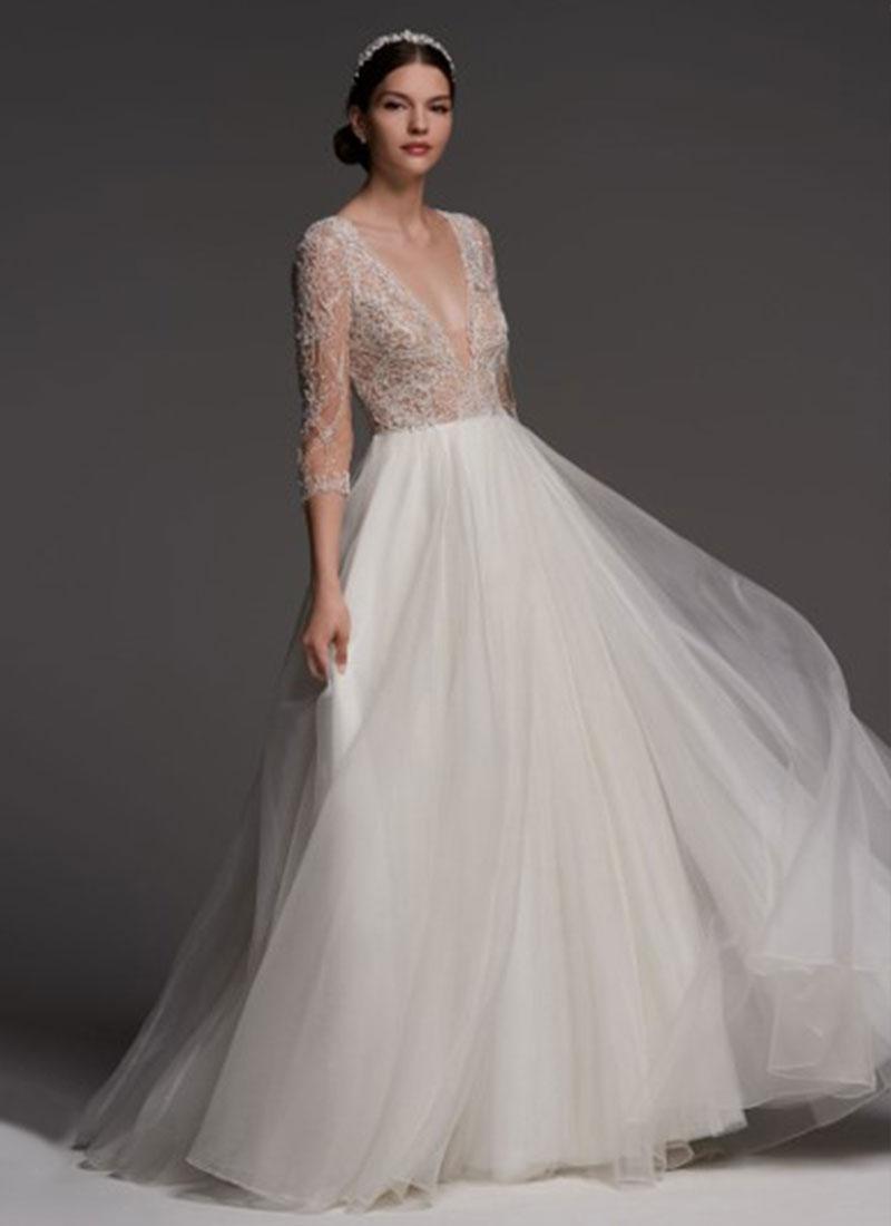 Designers bridal gowns from hayley paige matthew for Lazaro wedding dress price range