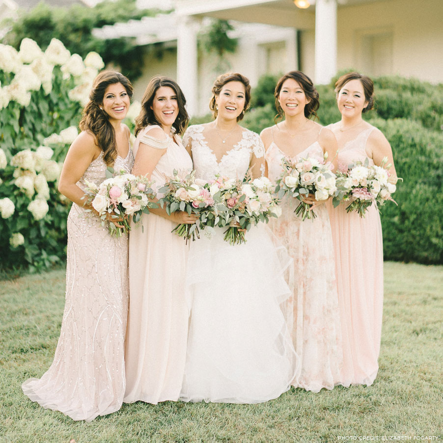 bridesmaids designer dresses at love couture bridal in maryland