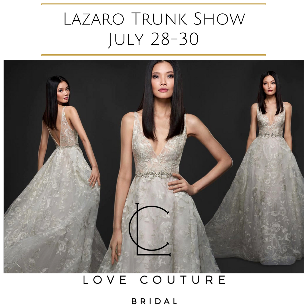 Trunk Shows At Love Couture Bridal Discounted Designer