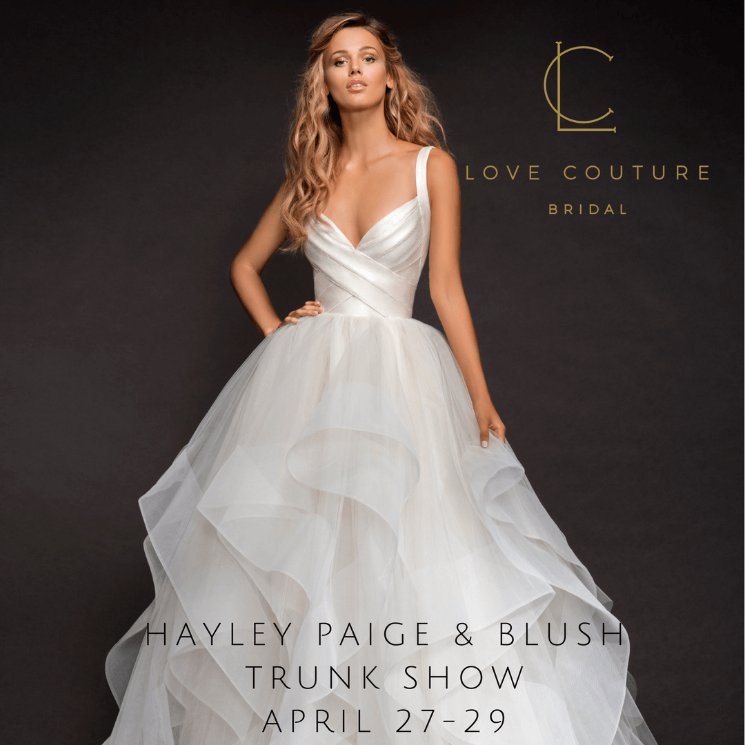 Trunk Shows at Love Couture Bridal - discounted designer dresses