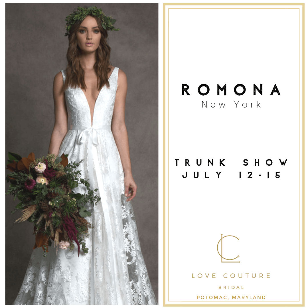 Romona Trunk Show at Love Couture Bridal